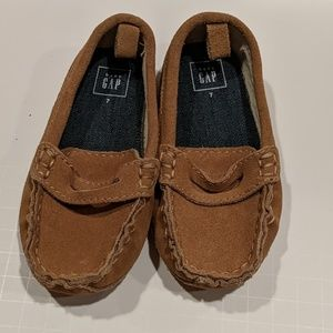 Baby Gap loafers, faux suede, 7c
